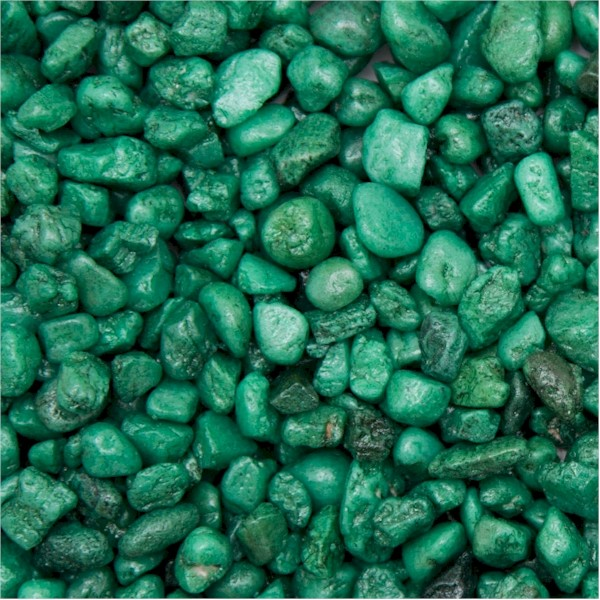 Coated Green Aquarium Gravel 2.5kg